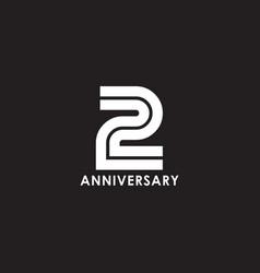 2nd year anniversary logo design template vector