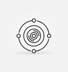 360-degree camera concept icon in thin line vector