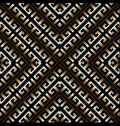 3d striped greek key meander seamless pattern vector image