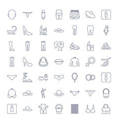 49 women icons vector