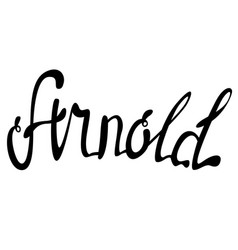 Arnold name lettering vector