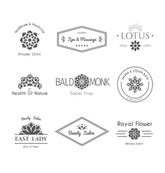 asian logo templates vector image