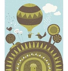 Balloon spring promenade vector image