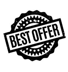 Best Offer rubber stamp vector