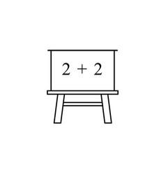 Blackboard of school icon the teach math vector