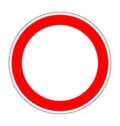 Blank traffic sign isolated on white background 1 vector