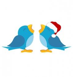 blue birds vector image vector image