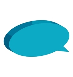 Blue speech bubble icon cartoon style vector