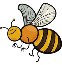 cartoon of funny bee vector image
