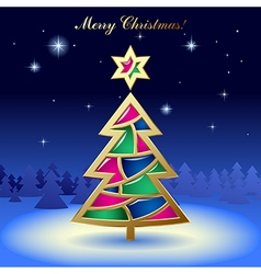 Christmas New-Years greeting card vector image