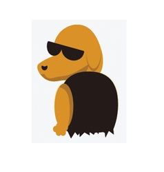 Cool dog vector