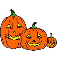 Cute spooky jack-o-lantern pumpkin vector