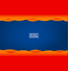 dark blue layer background orange waves with vector image