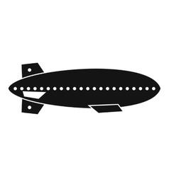 Dirigible balloon icon simple style vector