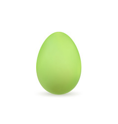 easter egg 3d icon green color egg isolated vector image