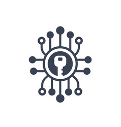 encryption cryptography icon vector image