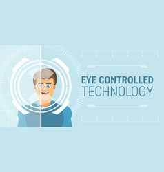 Eye controlled technology vector