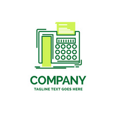 fax message telephone telefax communication flat vector image