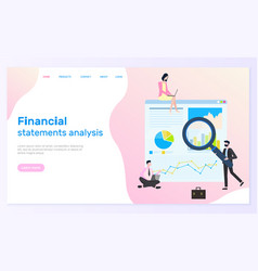financial statements analysis research content vector image
