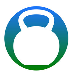 Fitness dumbbell sign white icon in vector