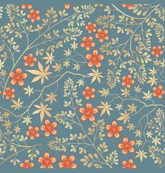 floral seamless pattern flower decorative tile ba vector image