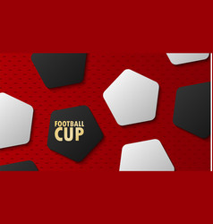 football world championship cup soccer abstract vector image