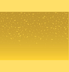 Golden confetti background vector