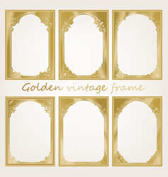 golden vintage frame vector image