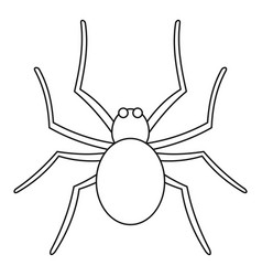Grass spider icon outline style vector