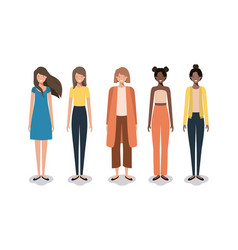 Group business woman vector