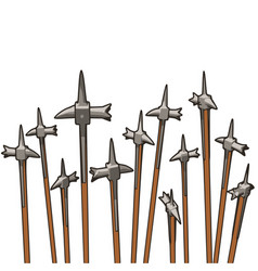 Group of warhammers pointing skyward vector