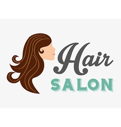 Hair salon design vector