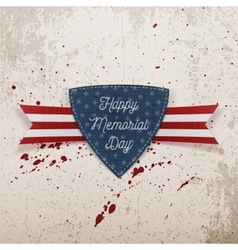 Happy Memorial Day festive Emblem and Ribbon vector image