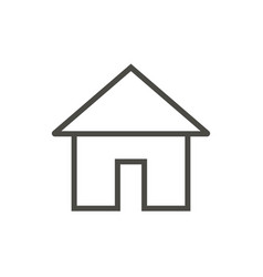 home icon line main page symbol vector image