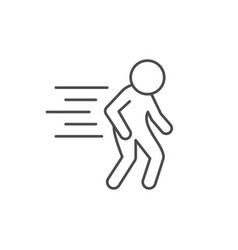 Human movement line outline icon vector
