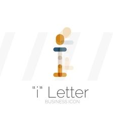 I letter logo minimal line design vector