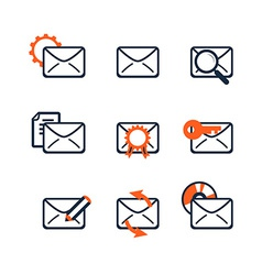 Icon set Web development and SEO E-mail marketing vector image