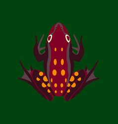 in flat style toad vector image