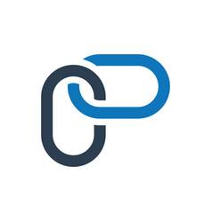 Link building icon vector