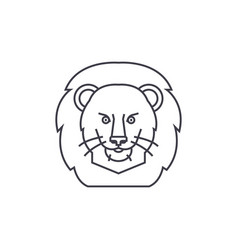 lion head line icon sign vector image