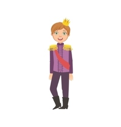 Little Boy With Epaulets Dressed As Fairy Tale vector