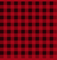 Lumberjack plaid seamless pattern in red black vector