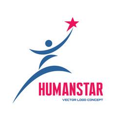 Man star - logo template concept vector