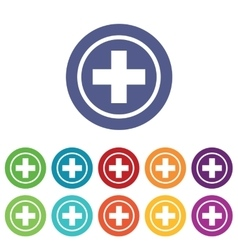 Medical emblem icons colored set vector image