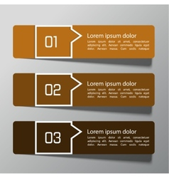 Modern design template from paper and pointers vector image
