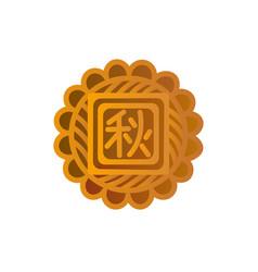 mooncake icon symbol of mid-autumn festival vector image