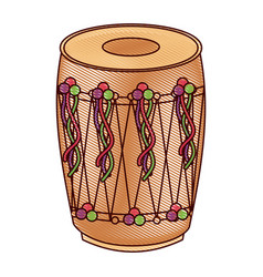 Musical instrument punjabi drum dhol indian vector