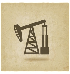 oil pump symbol vector image