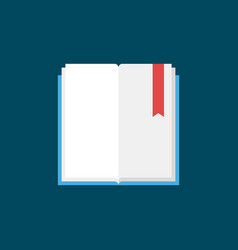 open book with bookmark flat icon vector image