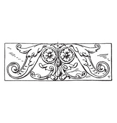 ornament oblong panel is a german renaissance vector image